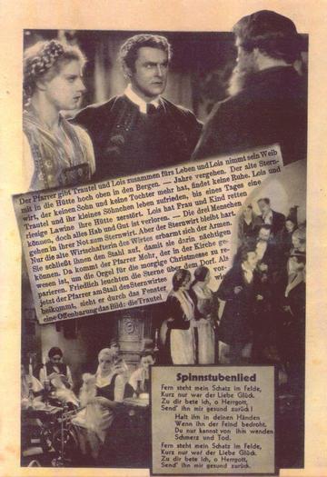 1933: der erste Film über 'Stille Nacht, heilige Nacht' Unter der Regie von Hans Marr und Felix Gruber als Franz X.Gruber entstand 1933 der erste Film über das weltberühmte Weihnachtslied.